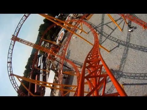 Dare Devil Dive REAL POV Front Seat Onride Roller Coaster Six Flags Over Georgia SFOG HD Travel Video