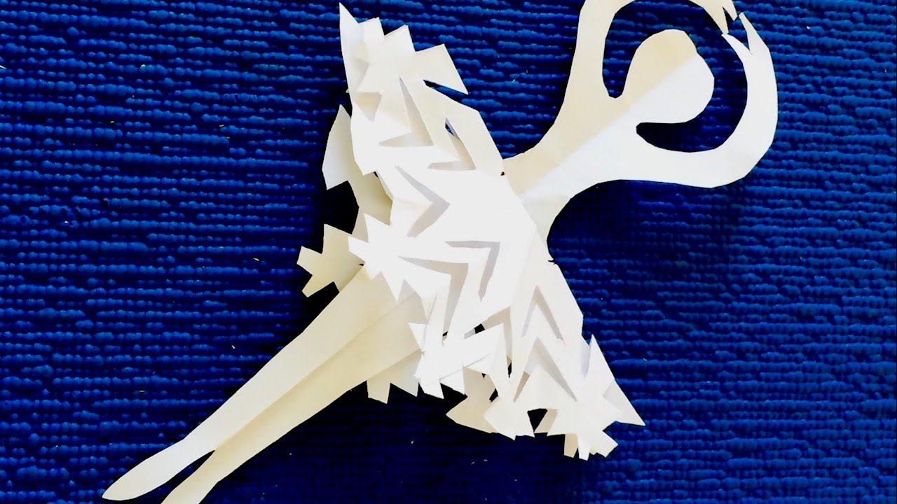 DIY. Как просто сделать Снежинку- Балеринку из бумаги ...