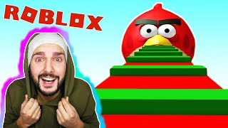 Roblox: ANGRY BIRDS escape! K & XXL OBBY! Outta here before the dangerous birds! Escape gameplay