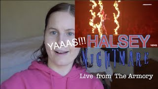 HALSEY - NIGHTMARE Live from The Armory Reaction