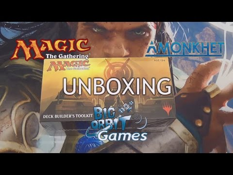 Magic The Gathering: Amonkhet Deck Builder's Toolkit Unboxing