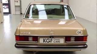 A Classic Mercedes-Benz W123 230E with a Complete History File from New -   SOLD!