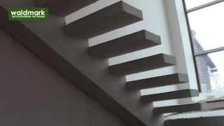 Монолитные лестницы на смещенном косоуре(