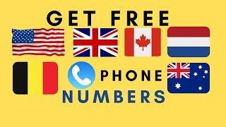 Get Free US/UK/Australia/Canada/Belgium Numbers