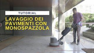 ITA No10 Lavaggio dei pavimenti con monospazzola