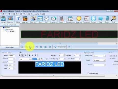 X show led editing software download