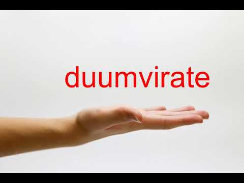 How to Pronounce duumvirate - American English