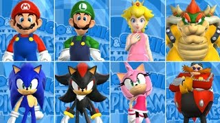 Mario and Sonic at the Olympic Games - All Characters