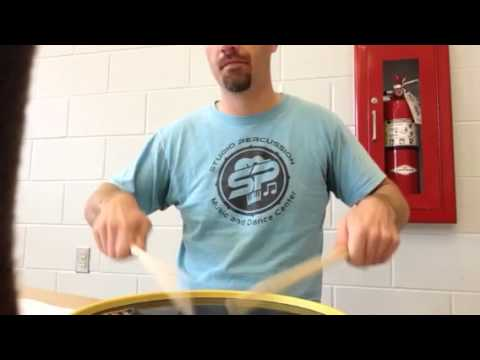 Whole Note Half Note and Quarter Note Warm Up Drum Lesson (