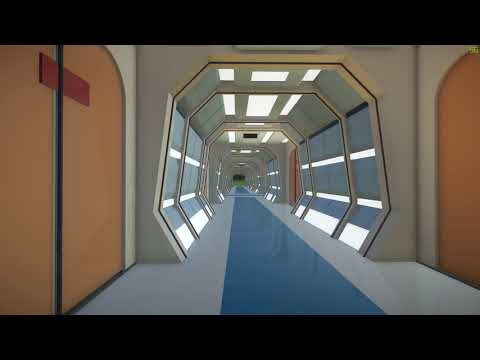 Star Trek Enterprise D hallway: Planet Coaster
