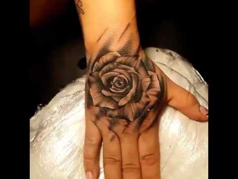Rose Tattoo In The Hand Hd Youtube