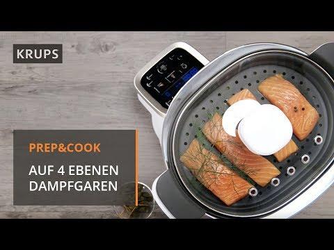 hp-5031-krups-prep-&-cook---zubehör---dampfgaraufsatz-perfect-steam-kochen-auf-4-ebenen