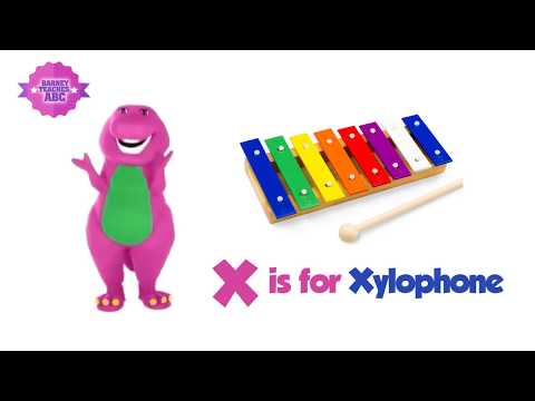 BARNEY TEACHES ABC with SONG by Children's Fun Station!