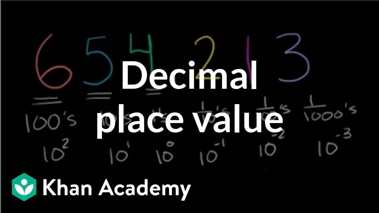 small resolution of Decimal place value (video)   Decimals   Khan Academy