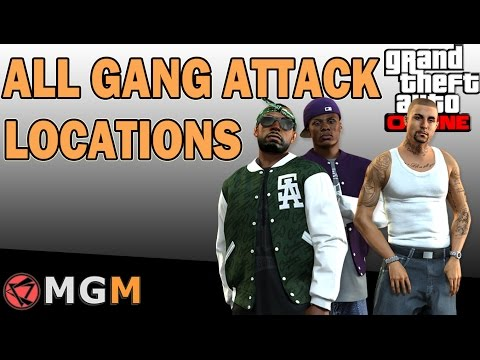 GTA 5 Online ™   All Gang Attack Locations