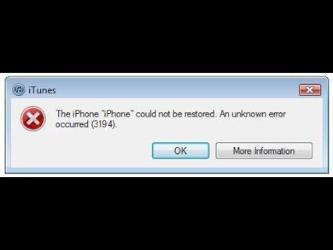 fix lỗi iphone treo itunes 3194