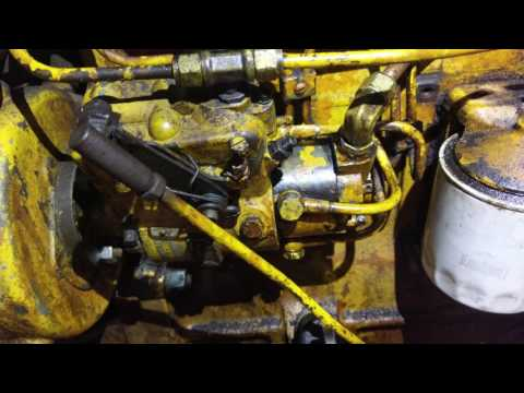 Case 188d First Start With Exhaust YouTube
