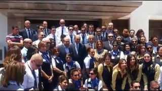 الطيار حسام الحفنى وهشام النحاس وأعضاء مصر للطيران فى جولة بحرية بقناة السويس الجديدة