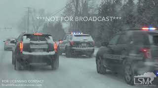 02-15-2019 Kansas City Metro Morning Snow Road Deterioration and Wreck Video
