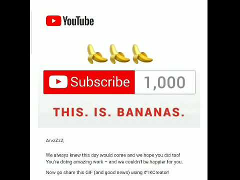 YouTube's Email For Reaching 1,000 Subscribers! 🤩