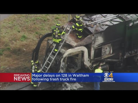 Garbage Truck Fire Shuts Down Part Of Route 128