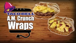 Taco Bell Breakfast Am Crunchwrap Sausage & Turkey Bacon Recipe Remake - Hellthyjunkfood