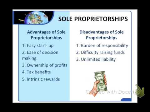 Module 20: Types of Businesses (Part 1: Sole Proprietorships and Partnerships)