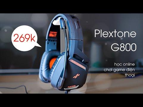 Tai nghe giá rẻ học online, chơi game có mic: Plextone G800