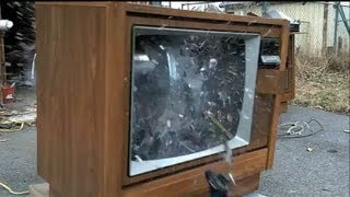 Big TV Implosion!