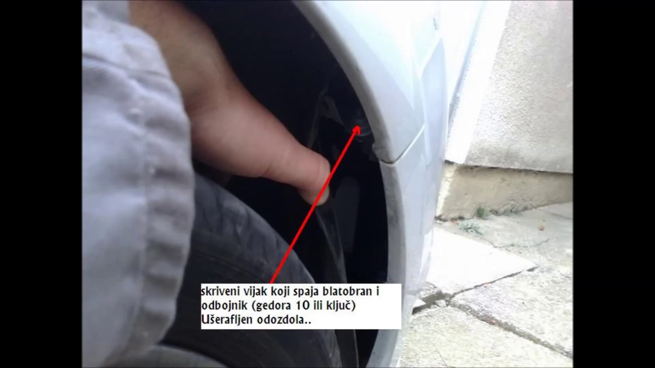 Removing the front bumper Renault Clio 3 phase 2, year 2010