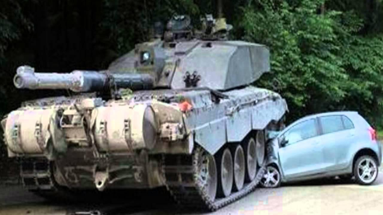 british tank flattens learner driver 39 s car youtube. Black Bedroom Furniture Sets. Home Design Ideas