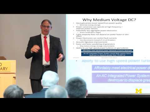 Norbert Doerry | Medium Voltage DC Power for the Future Fleet