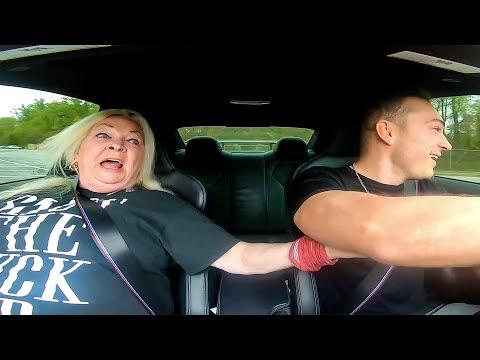 PRANKING MY GRANDMOM IN DRIFT CAR *SHE SH!TS HERSELF*