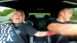 PRANKING MY GRANDMOM IN DRIFT CAR *SHE SH!TS HERSELF*