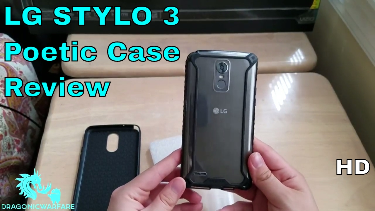 newest collection 594e9 6e2b5 LG Stylo 3 Clear & Black Poetic Case Review (2 Cases) HD