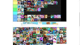 Ranking Roblox Games on a Tier List.