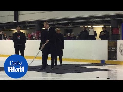 Prince William shows off his ice hockey skills on Helsinki visit - Daily Mail