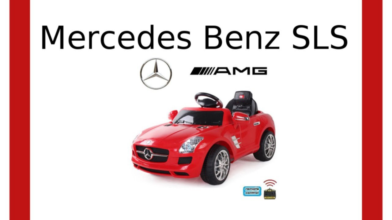 produktdetails elektro kinderauto mercedes benz sls amg. Black Bedroom Furniture Sets. Home Design Ideas