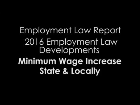 2016 Update: Minimum wage increases state and locally