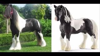 С каких живых лошадей делают Schleich.