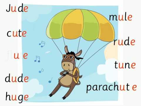 Jude the Mule: u-e split digraph/magic e by phab fonics