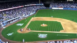 Last out of Dodgers 2011 opener vs. Giants