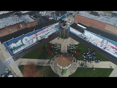 """2017  Veteran's Day Program in Veterans Park  Frankfort, IN  """"Married to America"""" by Don Coghill"""