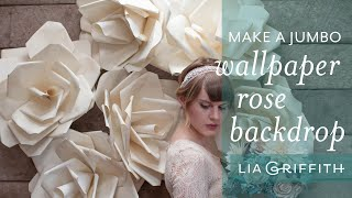 How To Make A Flower Backdrop from Wallpaper