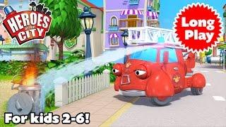 Heroes Of The City - Preschool Animation - Non-Stop! Long Play - Bundle 02   Car Cartoons