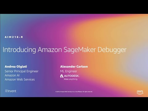 AWS re:Invent 2019: [NEW LAUNCH!] Amazon SageMaker Debugger: Insights into ML model (AIM216-R)