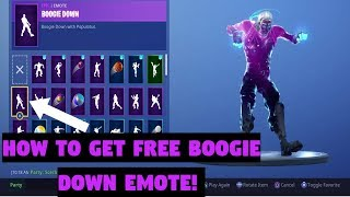 HOW TO GET FREE EMOTES IN Fortnite Battle Royale | Boogie down emote