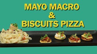 Mayo Macro With Biscuit Pizza | Party Snacks | East Party Snacks | Food Tak