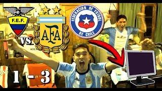 Ecuador 1 Argentina 3 - HAT TRICK DE MESSI ❤ - Reacciones Argentinos - Eliminatorias Rusia 2018