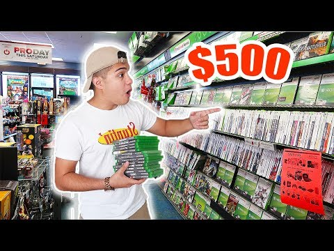 THE $500 GAMESTOP CHALLENGE!!